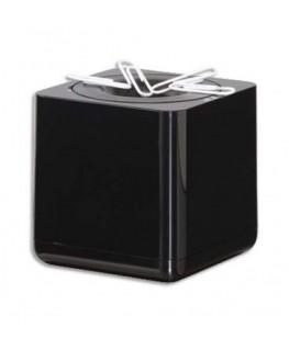 Distributeur de trombones Iline en ABS carré 7 cm coloris noir - HAN