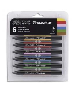 Set 6 marqueurs double pointe Promarker