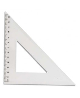 Equerre 45° 21 cm sous étui packbordable - JPC
