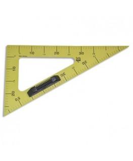 Equerre 60° en plastique incassable jaune graduée 50 cm avec poignée noire amovible pour tableau - Safetool®