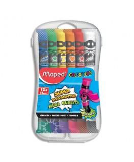 Boîte plastique de 12 tubes de gouache Color'Peps - Maped®