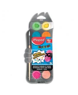 Boîte de 12 pastilles 30 mm de gouache ultra lavable Color'Peps - Maped®