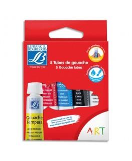 Boîte brochable en carton de 5 tubes de gouache 10 ml
