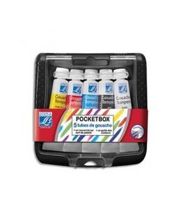 Pocket box en plastique de 5 tubes de gouache 10 ml