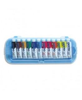 Boîte rigide de 12 tubes 10 ml de gouache fine