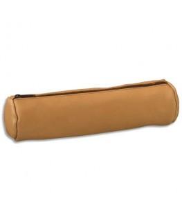 Fourre-tout rond 21 x 6 x 6 cm en cuir mouton naturel - Elba®