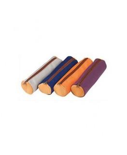 Fourre-tout rond bicolore 22 x 6 x 6 cm en cuir canvas assortis - Elba®