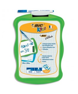 Ardoise Bic® VELLEDA effaçable à sec 20 x 31 cm double face (unie/Seyès)