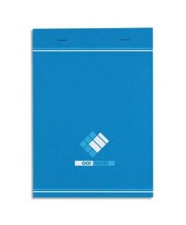 Bloc bureau 60g 14.8 x 21 cm agrafé réglure 5x5 - Hamelin