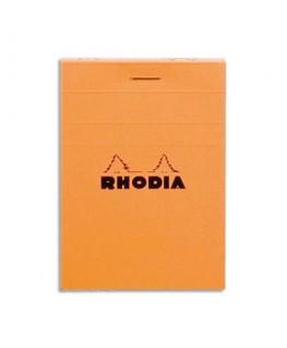 Bloc de direction couverture orange 80 feuilles (160 pages) A7 réglure 5x5 - Rhodia®