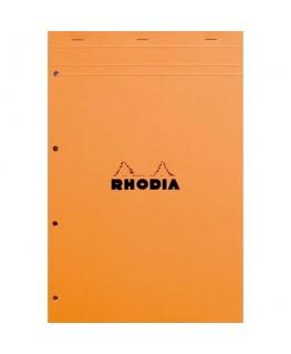 Bloc de direction couverture orange 80 feuilles détachables perforées A4+ réglure Seyès - Rhodia®