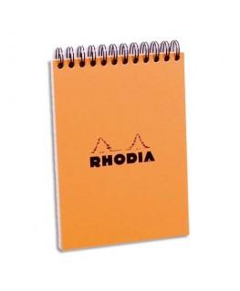 Bloc de direction couverture reliure intégrale en-tête orange 80 feuilles A6 réglure 5x5 - Rhodia®