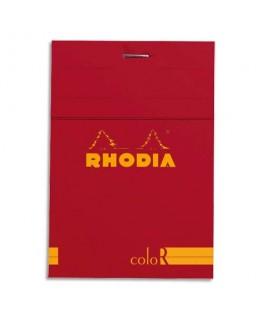 Bloc coloR agrafé en-tête 8.5 x 12 cm 140 pages lignées couverture rembordée coquelicot - Rhodia®