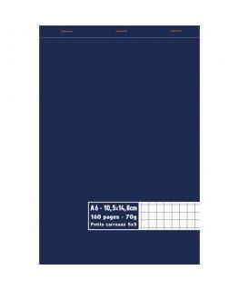 Bloc 70g agrafé en tête 160 pages 5x5 A6