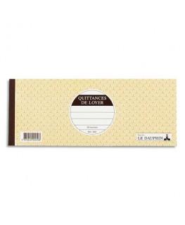 Carnet quittance de loyer à souche 11 x 27.5 cm 50 feuillets - Le Dauphin