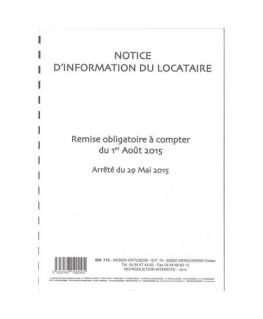 Notice d'information du locataire - Weber Diffusion