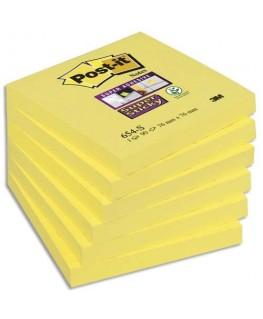 Bloc repositionnable Super Sticky 90 feuilles 76 x 76 mm jaune jonquille - Post-It®