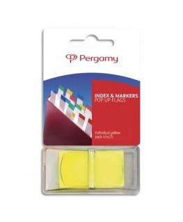 Set de 50 index marque-pages standard 2.5 x 4.3 cm coloris jaune - Pergamy