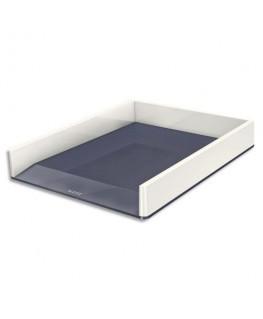 Corbeille à courrier Dual 26.7 x 4.9 x 33.6 cm blanc / gris métallisé - Leitz®