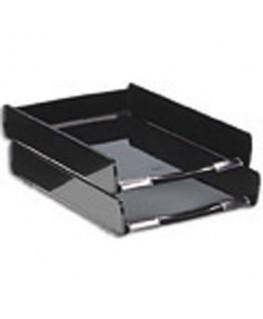 Corbeille courrier First 25.5 x 3.6 x 37 cm coloris noir - CEP