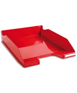 Corbeille à courrier 100% DECO rouge carmin 25.5 x 6.5 x 34.7 cm - Exacompta