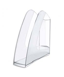 Porte-revues en polystyrène pour format A4 coloris cristal - 5 Etoiles