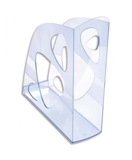 Porte-revues ECO bleu translucide