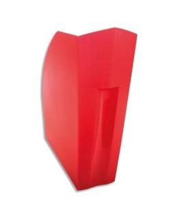 Porte-revues DECO rouge carmin translucide