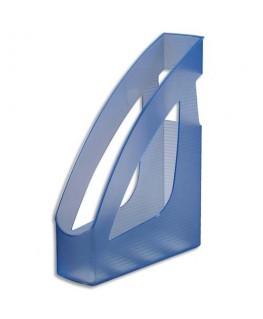 Porte-revues Silky Touch bleu transparent 24.6 x 7.5 x 31.1 cm - JALEMA
