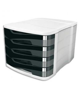 Module de classement ELLYPSE 4 tiroirs 29.2 x 24.6 x 38 cm noir - CEP