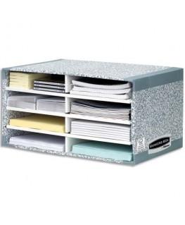 Module de tri carton 8 compartiments gris