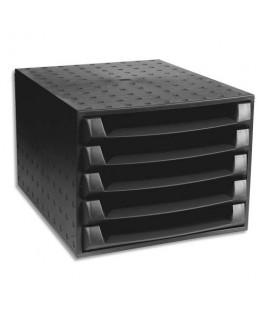 Module ECO BLACK 5 tiroirs Noir pour format A4+ fabriqué à partir de produits recyclés - Exacompta