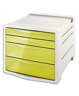 Module de classement 4 tiroirs COLOUR'ICE jaune
