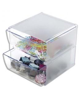 Système modulable Cube 2 tiroirs en polystyrène
