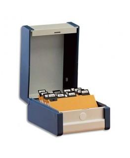 Boîte à fiches Provence format A7 en largeur H75 x P125 mm gris