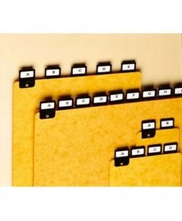 Jeu de 25 intercalaires avec onglet métallique pour boîte à fiches format A4 en hauteur - Rexel
