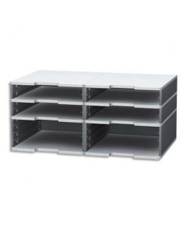 Trieur modulodoc 4 cases standard + 2 cases jumbo - Exacompta