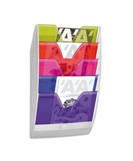 Présentoir mural 154H HAPPY 5 cases multicolore - CEP