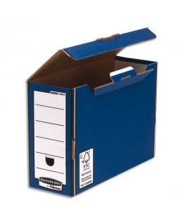 Boîtes à archives PRESTO PREMIUM bleue - Bankers Box® by Fellowes®