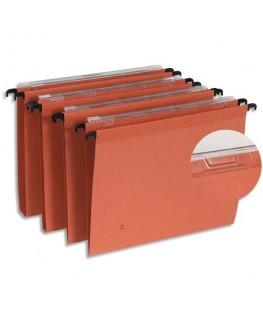 Boîte de 25 dossiers suspendus TIROIR en kraft 210g