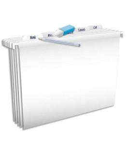Paquet de 5 dossiers suspendus Pure File TIROIR en polypropylène opaque