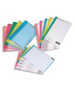 Sachet de 10 planches d'étiquettes pour dossiers tiroir N°0 coloris bleu - L'Oblique AZ By Oxford