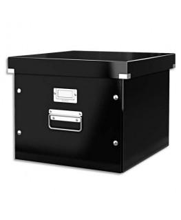 Boîte Click & Store taille M pour dossiers suspendus à bouton pression coloris noir - Leitz®