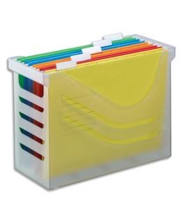 Bac SilkyTouch Transparent pour dossiers suspendus en polystyrène