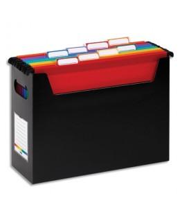 Bac Noir Rainbow pour dossiers suspendus en polypropylène