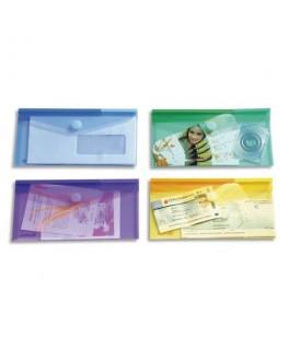 Sachet de 6 enveloppes chéquier en polypropylène 2/10e