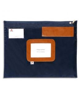 Pochette navette bleue en PVC