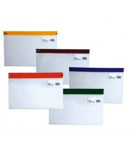 Sachet de 5 pochettes Zippa Bag S 140 microns A5 L25.5 x H19 cm transparente avec Zip assortis - SNOPAKE