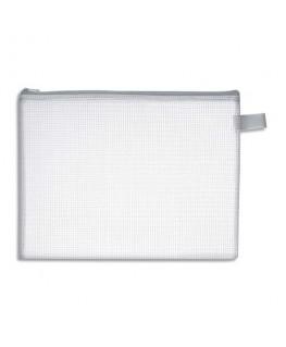 Pochette zippée en PVC renforcé semi-transparente pour le courrier