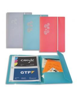 Porte-cartes PASTEL A6 pour 80 cartes en polypropylène assortis 3 couleurs - Elba®